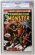 Bronze Age (1970-1979):Horror, Frankenstein #11 (Marvel, 1974) CGC NM 9.4 White pages....