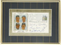 Autographs:Others, 1988 New York Yankees Stars Multi-Signed First Day Cover. The firstday cover that we offer here has been postmarked 1988 a...