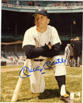 Autographs:Photos, Mickey Mantle Single Signed Photograph. Mickey Mantle added hisclassic and bold signature across the official MLB color ph...