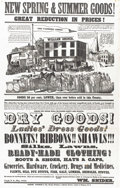 Antiques:Posters & Prints, Spectacular Elaborate Large 1855-Dated General Store AdvertisingPoster...