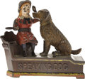 """Antiques:Toys, """"Speaking Dog"""" Mechanical Bank..."""