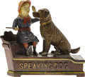 "Antiques:Toys, ""Speaking Dog"" Mechanical Bank - Blue Dress..."