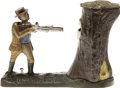 "Antiques:Toys, ""Teddy and the Bear"" Mechanical Bank - Flat Hat made by the J. & E. Stevens Co., Cromwell, CT., designed by Charles A. Baile..."