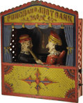 """Antiques:Toys, """"Punch and Judy Bank"""" Mechanical Bank..."""