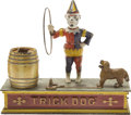 "Antiques:Toys, ""Trick Dog"" Mechanical Bank - Six Part Base..."