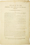 Military & Patriotic:Pre-Civil War, [Broadside] General Adrian Woll: Alcance al Semanario num. 88 del jueves 8 de Setiembre de 1842....