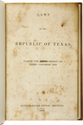 Books:Non-fiction, Laws of the Republic of Texas, Passed the First Session of ThirdCongress, 1839....