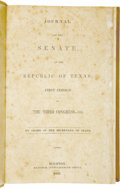 Books:Non-fiction, Journal of the Senate of the Republic of Texas; First Session of the Third Congress -- 1838....