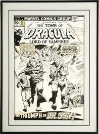 Gene Colan and Frank Giacoia - Tomb of Dracula #40 Cover Original Art (Marvel, 1976)