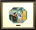 "animation art:Production Cel, Alvin S. White Studio - ""Yuletide Greetings"" Collector's PlateIllustration and Plate (Knowles/Disney, 1993).... (Total: 2 Items)"