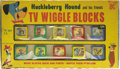Toys:Miscellaneous, Huckleberry Hound and Friends TV Wiggle Blocks Set in Box (Kohner Brothers, c. 1960)....