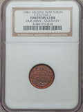Civil War Tokens, (1861-1865) Our Army - Our Navy, Civil War Token, F-332/336A, MS63Red and Brown NGC. ...