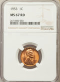 Lincoln Cents: , 1953 1C MS67 Red NGC. NGC Census: (24/0). PCGS Population: (17/0). Mintage 256,883,808. ...