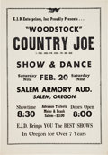 Music Memorabilia:Posters, Country Joe McDonald Salem Armory Auditorium Concert Poster(E.J.D., 1971)....