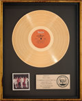 Music Memorabilia:Awards, Isley Brothers Showdown RIAA Gold Record Sales Award (T-NeckJZ 34930, 1978). ...