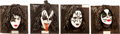 Music Memorabilia:Memorabilia, KISS - Set of Four Limited Edition Resin Relief Sculptures(Illusive Originals, 1997).... (Total: 4 Items)