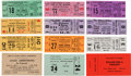 Music Memorabilia:Tickets, Jazz Unused Concert Tickets - Group of Twelve Including LouisArmstrong, Dave Brubeck, Nina Simone, and Others (circa 1960s)....