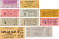 Music Memorabilia:Tickets, James Brown/ Ray Charles/ etc. - Group of Ten Unused R&BTickets (1967-1971)....
