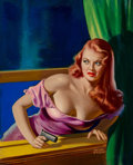 Pulp, Pulp-like, Digests, and Paperback Art, Peter Driben (American, 1902-1968). Catching the Thief,Detective Yearbook magazine cover, 1949. Oil on board. 25 x20.7...