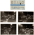 Music Memorabilia:Photos, Beatles - Set of Four Photos/Ticket Stub, Munich (June 24,1966)....