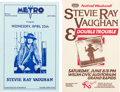 Music Memorabilia:Posters, Stevie Ray Vaughan/Double Trouble Lot Of Two Concert Posters(Mid-1980s).... (Total: 2 Items)
