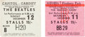 Music Memorabilia:Tickets, Beatles Final UK Tour Concert Ticket Stubs (Two) (December 11-12,1965). ...