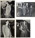 Music Memorabilia:Autographs and Signed Items, Louis Armstrong And His All Star Band Signed Photographs (circalate 1940s)....