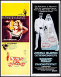 """Movie Posters:Foreign, Never on Sunday & Others Lot (Lopert, 1960). Inserts (5) (14"""" X 36""""). Foreign.. ... (Total: 5 Items)"""