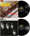 """Music Memorabilia:Memorabilia, Beatles - Please Please Me and With The Beatles UK Stereo LP GroupLate 60""""s Issues (Parlophone, 1963)...."""