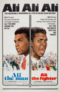 "Boxing Collectibles:Memorabilia, 1975 ""Ali the Man: Ali the Fighter"" One-Sheet Movie Poster...."