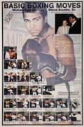 Boxing Collectibles:Autographs, Late 1990's Steve Acunto Sr. Signed AAIB Poster....