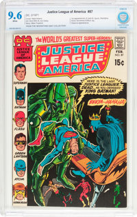 Justice League of America #87 (DC, 1971) CBCS NM+ 9.6 White pages
