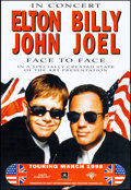 "Movie Posters:Rock and Roll, Elton John & Billy Joel: Face to Face Tour (DuetEntertainment/Frontier Touring Company, 1998). Concert Poster (19""X 27.75""..."