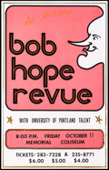 "Movie Posters:Comedy, Bob Hope Revue at the Memorial Coliseum & Other Lot (1974). Screen Print Performance Poster (14"" X 22"") & 4-Track Album Post... (Total: 2 Items)"