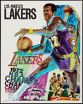 """Movie Posters:Sports, Los Angeles Lakers NBA Champs (L.A. Lakers, 1972). Posters (2) Identical (23"""" X 29""""). Sports.. ... (Total: 2 Items)"""