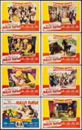 "Movie Posters:Adventure, The Adventures of Hajji Baba & Others (20th Century Fox, 1954).Lobby Card Sets of 8 (2 sets) (11"" X 14"") & Photos (9) (8"" X...(Total: 25 Items)"