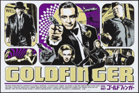 "Goldfinger by James Rheem Davis (The Colony Theater, 2010). Autographed Screen Print Poster (24"" X 36"") Artist..."