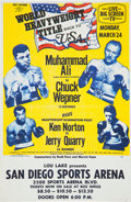 Boxing Collectibles:Memorabilia, 1975 Muhammad Ali vs. Chuck Wepner Closed Circuit Poster. ...