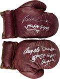 Boxing Collectibles:Autographs, 1970's Angelo Dundee Signed Boxing Gloves.. ...