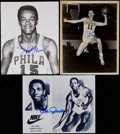 Basketball Collectibles:Photos, Greer, Connors and Jones Signed Photographs (3)....