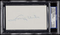 Football Collectibles:Others, Johnny Unitas Signed Index Card....