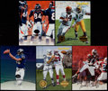Football Collectibles:Photos, Football Stars Signed Oversized Cards Lot of 5....