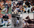 Football Collectibles:Photos, Chicago Bears Signed Photographs Lot of 9....