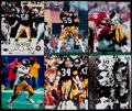 Football Collectibles:Photos, Pittsburgh Steelers Greats Signed Photographs Lot of 6....