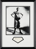 Miscellaneous Collectibles:General, 1950's George Reeves Signed Cut Signature Display....