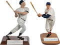 Baseball Collectibles:Hartland Statues, 1990's Mickey Mantle and Ted Williams Signed Statues (2)....