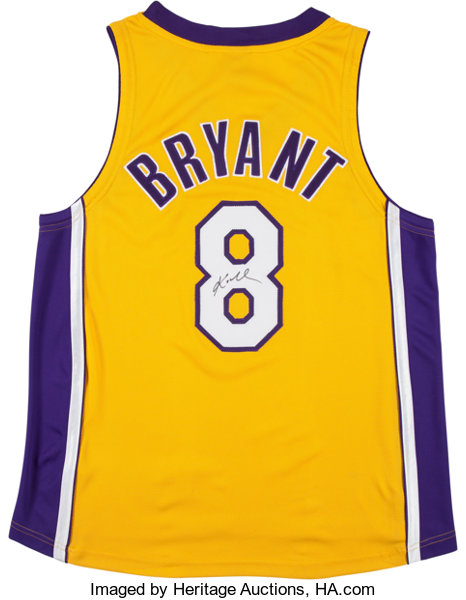 f21b47a49f2 2000 s Kobe Bryant Signed Los Angeles Lakers Jersey. ... Basketball ...