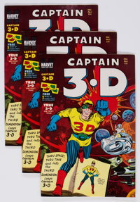 Captain 3-D #1 File Copies Group of 40 (Harvey, 1953) Condition: Average VF+.... (Total: 40 Comic Books)
