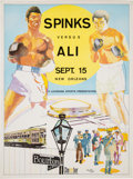 Boxing Collectibles:Memorabilia, 1978 Muhammad Ali vs. Leon Spinks Promotional Poster. ...
