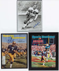 Football Collectibles:Publications, Huarte, Green and Horvath Signed Photographs (3)....